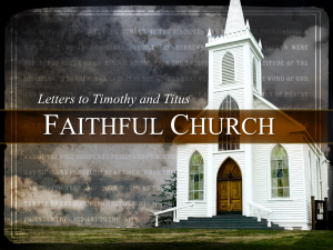 Faithful Church Title Slide